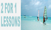 Amazing 2 for 1 special offers on windsurfing lessons taken with Poole Windsurfing