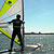 Enjoying beginners windsurfing lessons & learning all the core skills