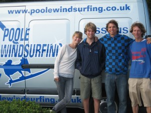 Poole Windsurfing Team with Francisco Goya