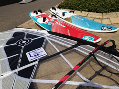 Brand new windsurfing equipment used at Poole Windsurfing