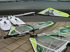 The windsurf hire fleet at Poole Windsurfing