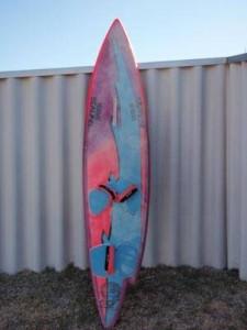 A classic retro windsurf board