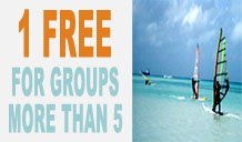 Windsurfing Group Discounts – 1 Person goes for FREE!