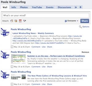 Poole Windsurfing Facebook Fan Page