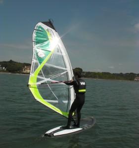 Windsurfing student at Poole Windsurfing