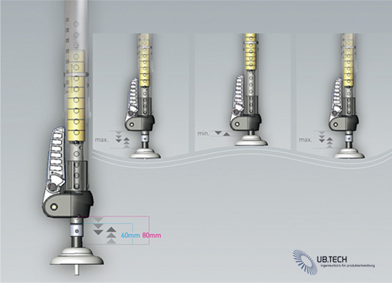 North Windsurfing New Shock Absorbing Technology SHOX.XTR with SHOX.BASE