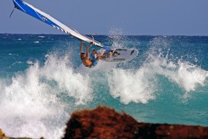 Brian Talma windsurfing action