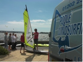 Poole Windsurf school with brand new Equipment