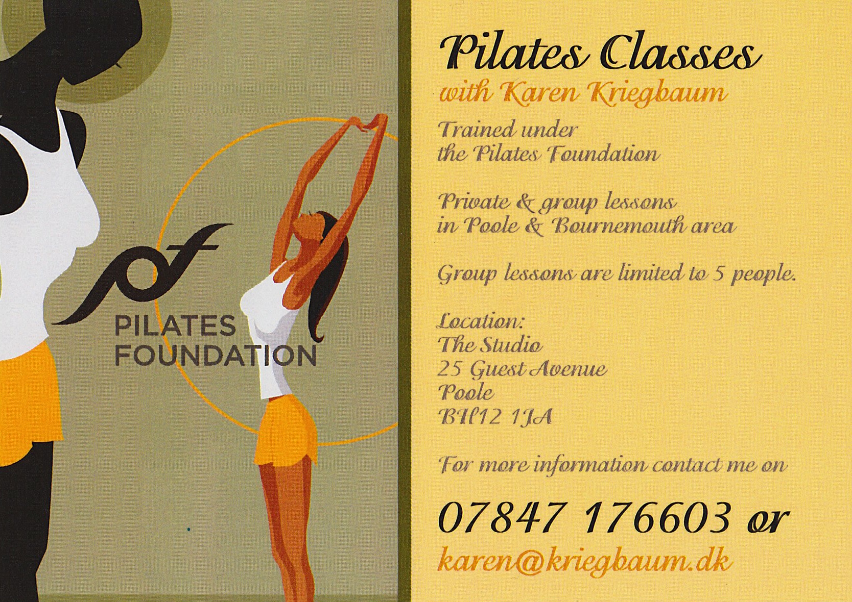 Pilates Classes in Poole & Bournemouth