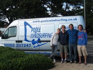 Poole Windsurfing Team with Francisco Goya