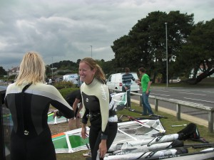 Poole Windsurfing Students at the Goya Demo Day