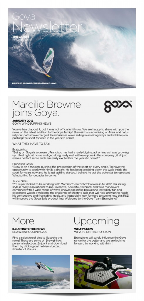 Marcilio Browne Joins Goya Windsurfing