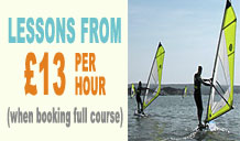 Discounted Price on Full Beginners Windsurfing Course