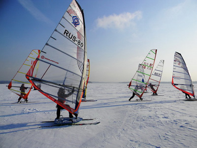 Winter Windsurf Training