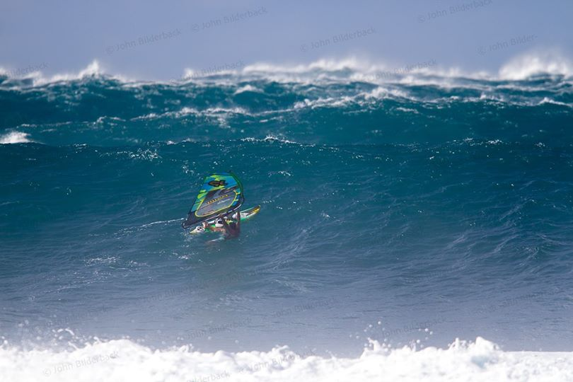 Jason Polakow Windsurfing Sunset Beach Oahu