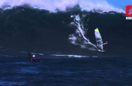 Big Wave Windsurfing at Peahi Jaws Hawaii