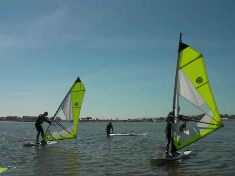 One of the things to do in Sandbanks - a Poole Windsurfing session!