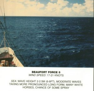 Windsurf conditions - Beaufort Force 6