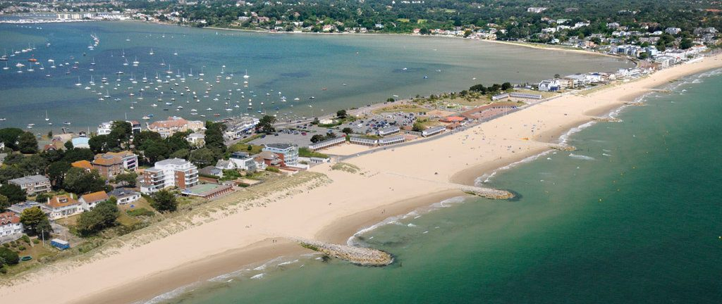 An aerial shot of Sandbanks - between the Harbour and the Sea!