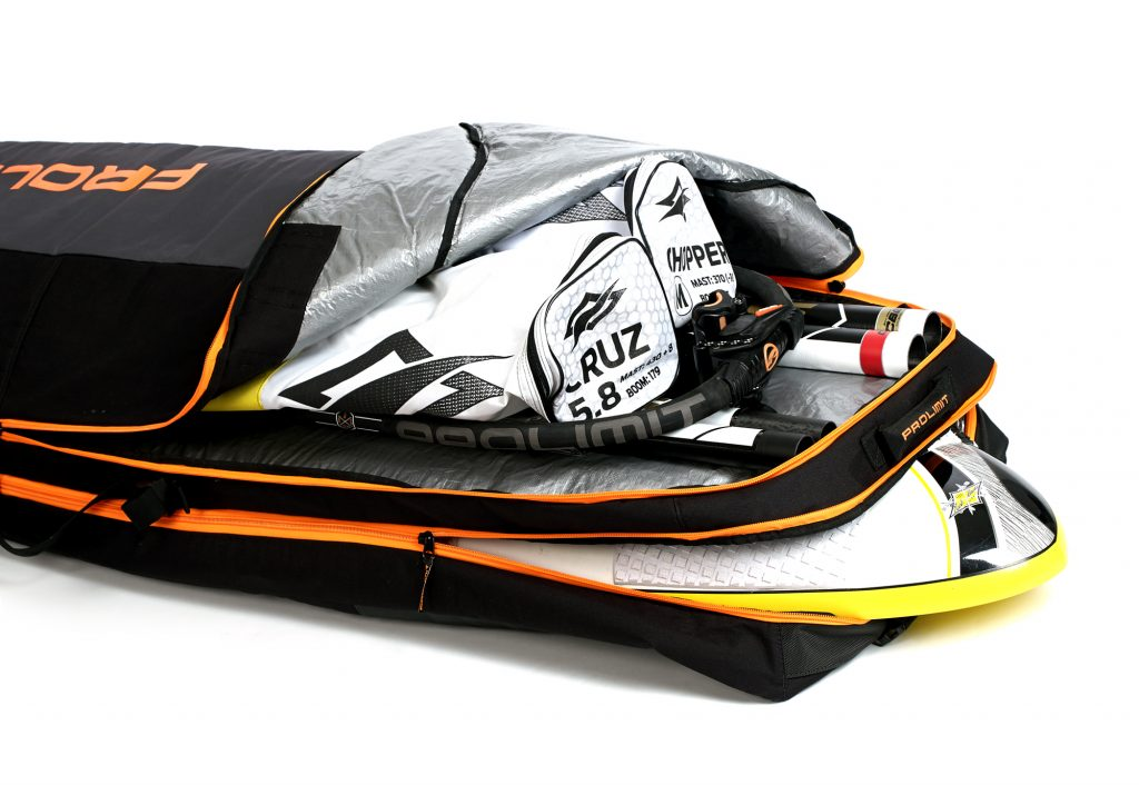 Equipment packed in a quiver bag to avoid damage in transport.